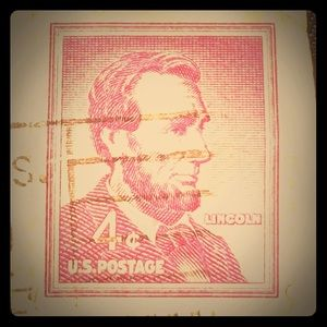 Rare Lincoln 4 Cent US Stamp